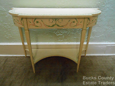 Custom Adams Style Hand Painted Console Table
