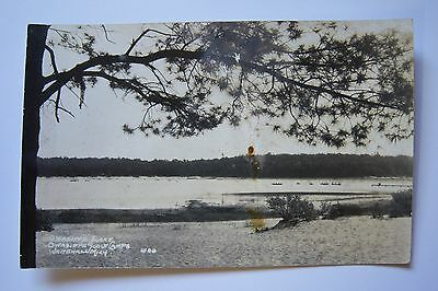 Owasippe Lake OWASIPPE SCOUT CAMPS Whitehall, Michigan postcard RPPC sold AS IS