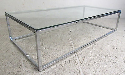 ee485f1a7ec9b MID-CENTURY MODERN RECTANGULAR Chrome and Glass Coffee Table (5546 ...