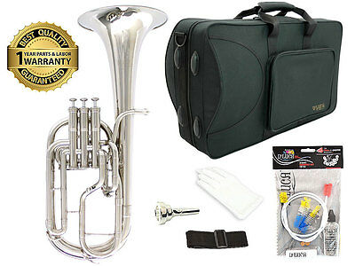 D'Luca 860 Series Nickel Plated Eb Alto Horn with 1 Year Manufacturer Warranty