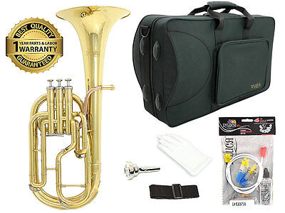 D'Luca 860 Series Gold Brass Eb Alto Horn with 1 Year Manufacturer Warranty