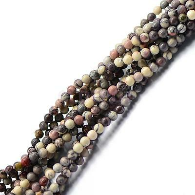 4mm Nature Grass Flower Round Gemstone Loose Beads Spacer Jewelry DIY 15''