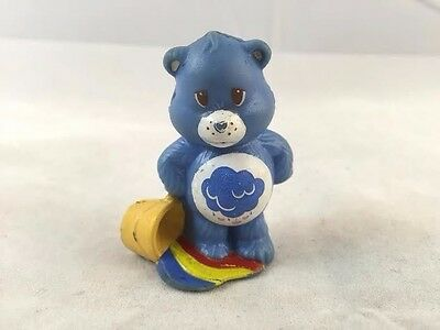 Vintage 1984 AGC PVC Grumpy Care Bear With Pail and Rainbow Puddle Cake Topper
