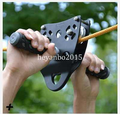 Zip Line Cable Trolley Outdoor Military Rock Climbing Dual Pulley 45KN
