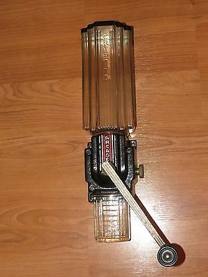 Vintage Arcade Crystal 9010 Art Deco Coffee Grinder With Original Catch Cup