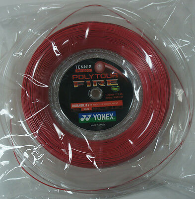 Yonex Tennis String Poly Tour Fire 120, PTF120, 1.20 mm, 200 m, Made in Japan