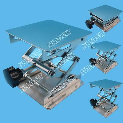 4'' Stainless Steel Lab Stand Table Scissor Lift laboratory Jiffy Jack