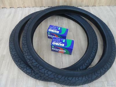 Banden 20 x 1.95 BMX Bike Tires for Street Road Slick Includes Tubes NEW ALL BLACK 20