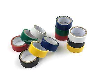 """12 Rolls of Color Electrical Tape Assorted Colors 3/4"""" in x 6.6ft PVC Insulation"""