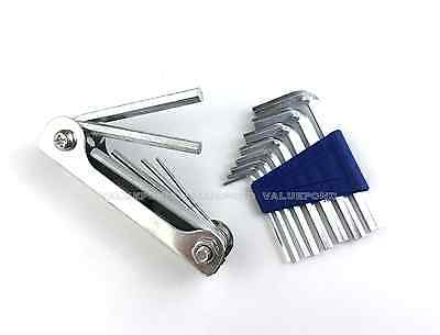 14 pcs Allen Wrench Sets INDIVIDUAL & FOLDING HEX KEY Set SAE STANDARD & METRIC