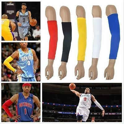 One Arm Sleeve Cover Sun Armband Skin Protection Sport Stretch Basketball