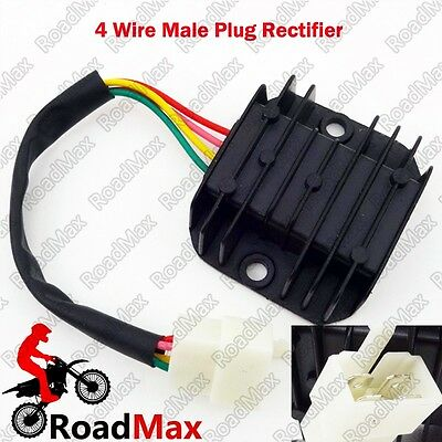 Scooter GY6 4 Pins Voltage Regulator Rectifier 50cc 125cc 150cc Moped Motorcycle