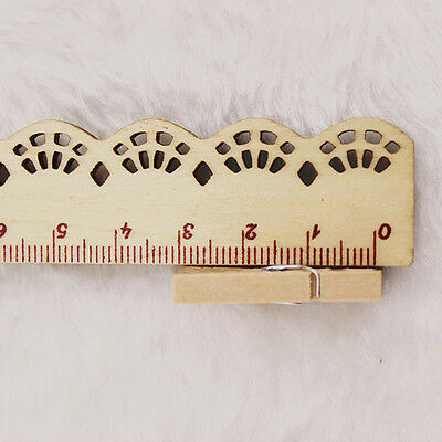 50*Small Wood Clothespins Wooden Laundry Pins Photo Paper Peg DIY Clip Tool Hot