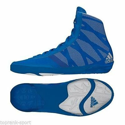 Adidas Pretereo III - Blue Wrestling Boots Shoes Adults Mens Pro