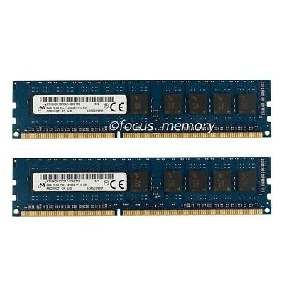 Micron 16GB 2x8GB DDR3 1600MHz PC3-12800E ECC Dimm server Memory Unbuffered