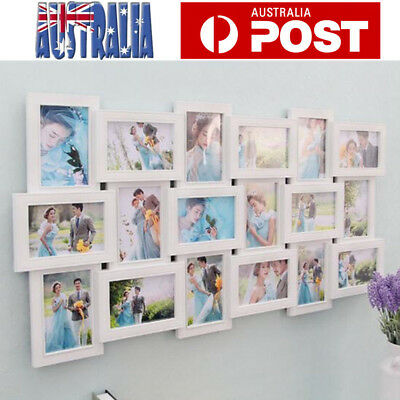Multi Photo Frames Family Picture Wall Decor Photo Frame Gift 18 in 1 White
