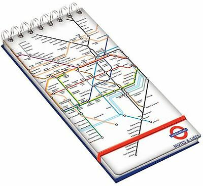 London Underground Wiro Lined Note Pad With Bellyband