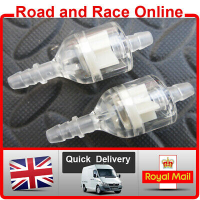 Inline Motorcycle Fuel Filter For Use With 5-6mm ID Fuel Pipe 1 x Petrol Filter