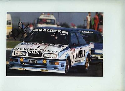 Andy Rouse Sierra Cosworth RS500 BTCC 1989 Signed Photograph 1