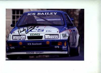 Andy Rouse Sierra Cosworth RS500 BTCC 1990 Signed Photograph 1