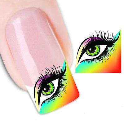 Nail Art Sticker Water Decals Transfer Stickers Eyes Lashes (XF1318)