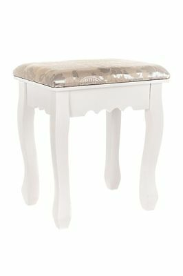 Dressing Table Stool Piano Makeup Chair Vintage Padded Seat Retro Shabby Chic