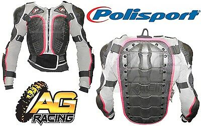 Polisport Integral Chest Protector Body Armour Jacket Adult Large Motocross New