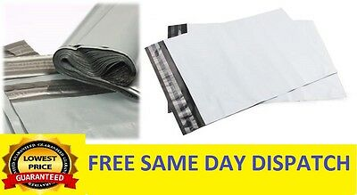 100%STRONG  Grey Plastic Mailing Post Poly Postage Bags with Self Seal ALL SIZES