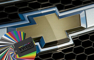 Vvivid 3mil Chevy Bowtie Vinyl Wrapping Decal 2-pack