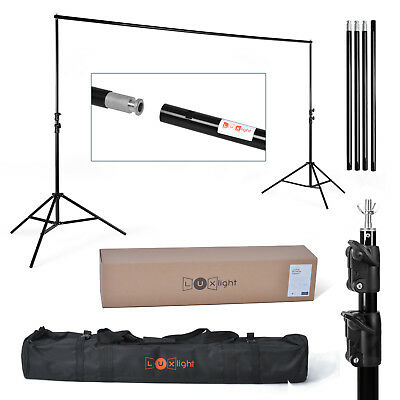 2.4 x 3m Backdrop Support Stand - Holds 10kg - Background Photo Studio - 8X10ft