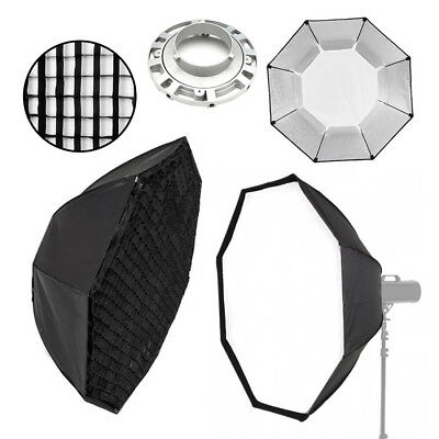 Octobox / Octagon Softbox - Bowens Fit Flash - Photography Studio Silver 95cm