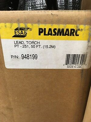 ESAB PT251 50' Plasma Torch Leads New In Box 948199