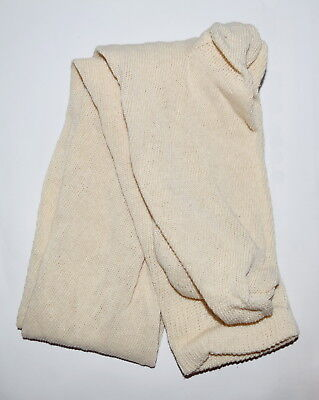 "100% Cotton Long Over the Knee Socks - (Off-White) - Colonial/Re-Enacting -""NEW"""