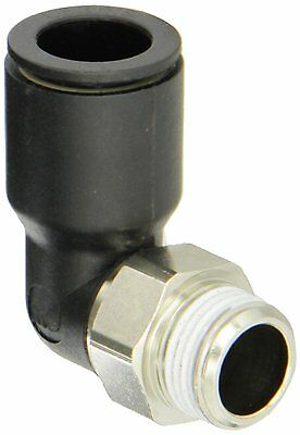 Legris 3109 14 17 Nylon/Nickel-Plated Brass Push-to-Connect Fitting, 90 Dg Elbow