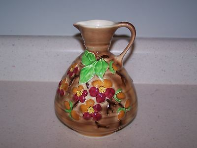 Colorful Flowered Royal Art Pottery Longton England Jug