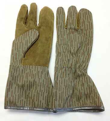 East German Military Raindrop Camo Shooting Gloves Trigger Mitt XS/S