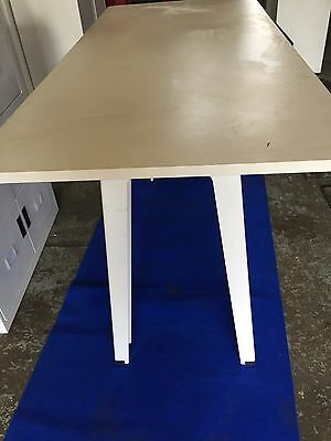 Tall Steelcase White Meeting  Office Tablle Furniture