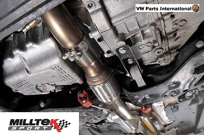VW Polo 6R GTI 1.4 TSI 180PS MILLTEK Large Bore Downpipe & High Flow Sports Cat