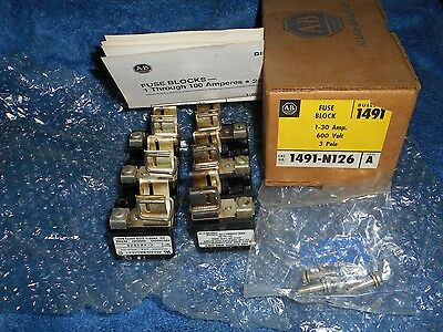 Get 4 New In The Boxes For $40 Allen Bradley Fuse Block 1491-N126