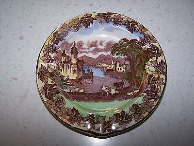 Maling Lusterware Ashtray - Cattle Grazing - Newcastle On Tyne England
