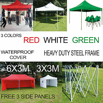 Popup  Waterproof Outdoor Garden Gazebo 3x3m,3x6m Party Tent Commercial Quality