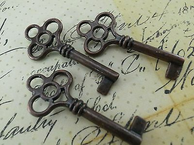 Vintage Style Open Barrel Skeleton Key Furniture Cabinet-Antique Copper-3 x(NEW)