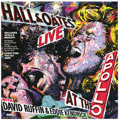 HALL AND OATES RECORD PROMO POSTER Live At The Apollo 1985