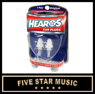 Hearos Hs211 Ear Plug Pair - High Fidelity Earplugs - New Packaging 211 Plugs