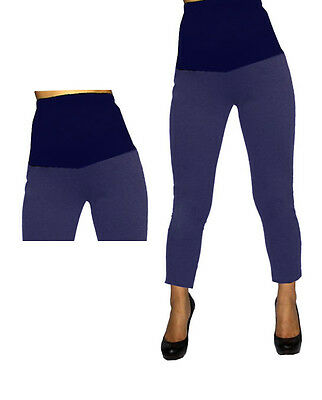 Blue Jeggings Maternity Womens Leggings Solid Fitted Stretch Ankle S M L XL