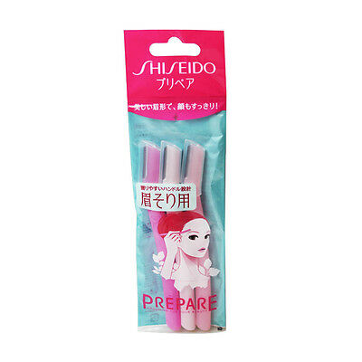F229 Shiseido FT PREPARE Safety Razor For Eyebrow (3 PCS) Made in Japan