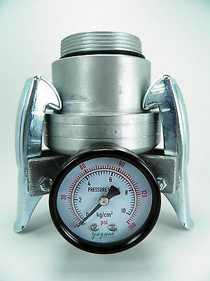 "2""x 2"" Water Cannon/big Gun Sprinkler Quick Disconnect With Pressure Gauge"