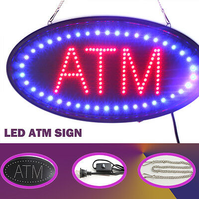 Animated LED Neon Light Business ATM OPEN LED Sign board On/Off Motion Switch