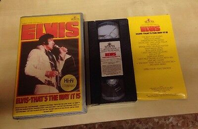 Elvis Presley That's The Way It Is VHS 1984