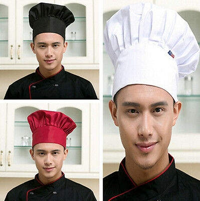 Men Kitchen Chef Cook Catering Baker Cap Elastic Hat Adjustable
